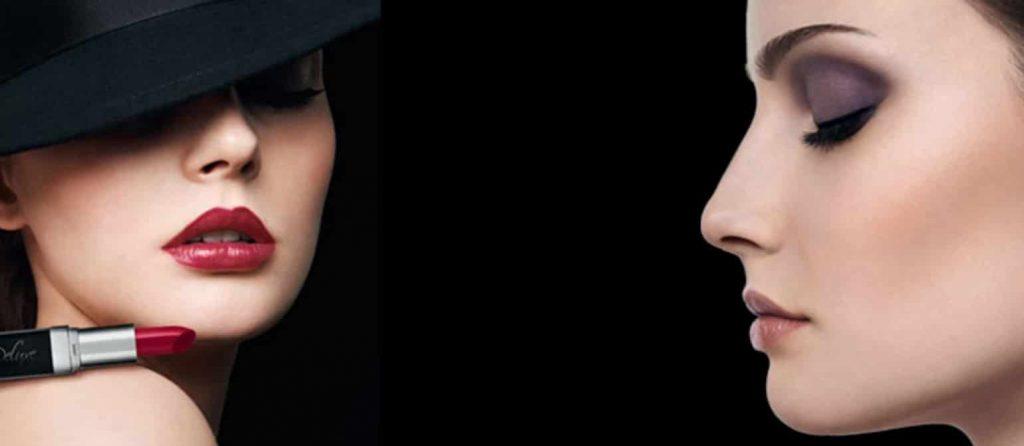 Kosmetik - billede af kvinde både front og profil